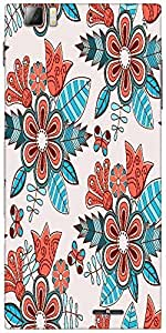 Snoogg Abstract Floral Background Designer Protective Back Case Cover For Len...