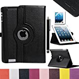 Pandamimi ULAK(TM) Smart Cover Slim PU Leather Magnetic Stand Case with Auto Wake/Sleep for New iPad 4 4G Gen 3 3rd 2 with Screen Protector and Stylus