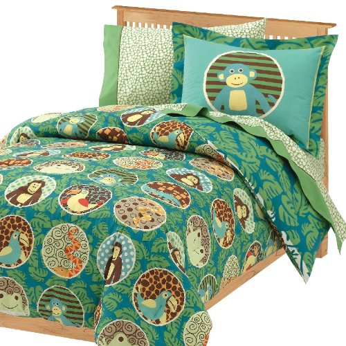 Bed in a Bag with a Rainforest Theme - Twin Size