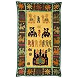 Rajrang Home Décor Embroidered Patch Work Mustard Yellow Wall Hanging