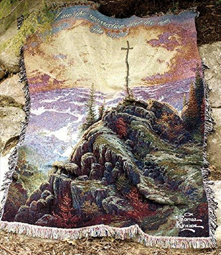 "Thomas Kinkade ""Sunrise"" Tapestry Throw Blanket 50"" X 60"" front-981442"
