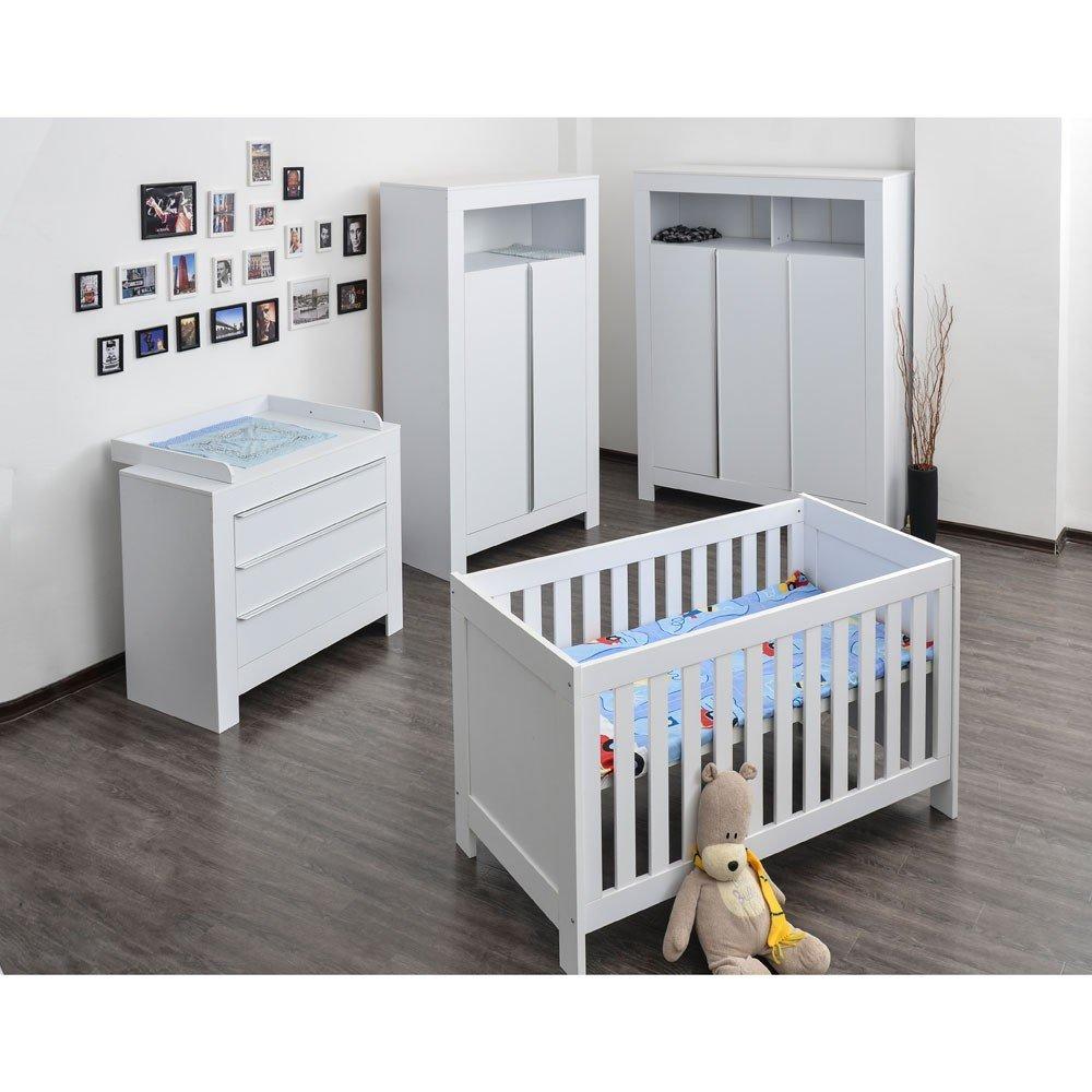 Babyzimmer Felix mit 2-türigem Kleiderschrank in reinem Weiss