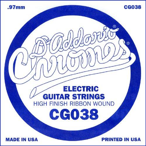 D'Addario Cg038 Flat Wound Electric Guitar Single String, .038