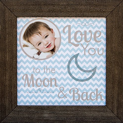 The Grandparent Gift Frame, Baby Boy Moon and Back
