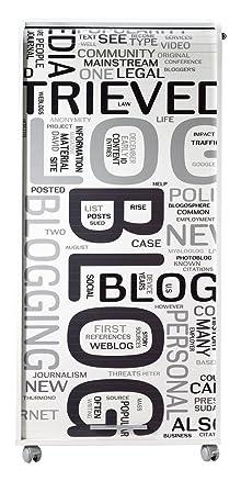 Simmob orga140blb301Blog 301Armadio IT con 2cassetti legno bianco 53,1x 65,2x 139,9cm