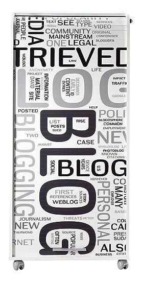 Simmob ORGA140BLB301 Blog 301-Armadio informatico con 2 cassetti, in legno, colore: bianco, dimensioni: 53,1 x 65,2 x 139,9 cm