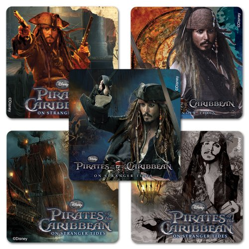 Pirates of the Caribbean Sticker Assortment - 75 Per Pack