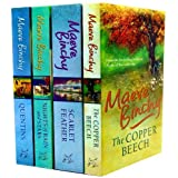 Maeve Binchy Collection 4 Books Set RRP �28.96 (Nights of Rain and Stars (No 1 Bestseller) , The Copper Beech, Scarlet Feather, Quentins)by Maeve Binchy