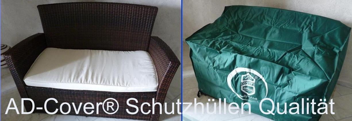 Schutzhülle Rattanmöbel -Gartensofa / Gartenbank 135x70x65cm.