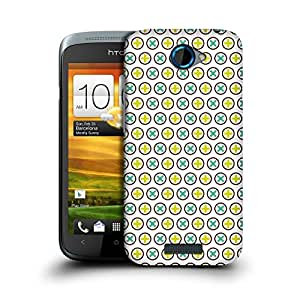 MobileGlaze Designs Anise Star Pattern Plusply Hard Back Case Cover for HTC ONE S