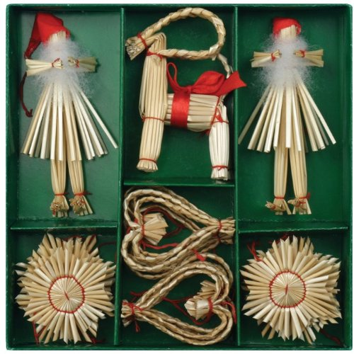 Christmas-Straw-Ornaments-Set-of-21-pieces