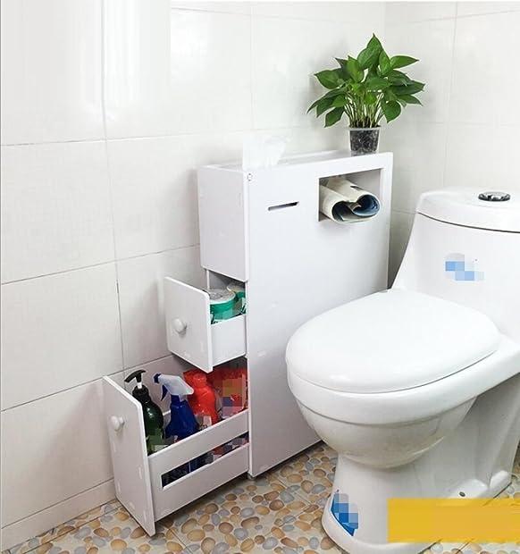 GY&H Bagno mobili con freno caster igienici lato armadio lato armadio cucina, cantina, soggiorno, bagno con armadietti impermeabile,B
