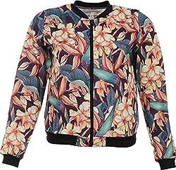BONNE VIE Women's Polyester Jacket (Multi-Coloured, S)