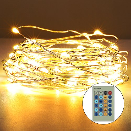 Christmas 33Ft 100 LEDs Copper Strings Lights