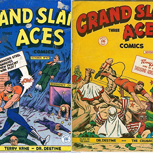 Grandslam Three aces. Issues 47 and 48. The Crusaders, Dr Destine and Terry Kane. . Golden Age digital comics PDF