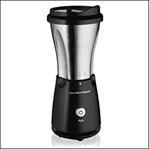 Hamilton Beach 51108 Stainless Single Serve Blender with Travel Lid