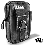 #1 Premium EDC Cell Phone Travel Pouch by TNH Outdoors ? Small Hip Or Leg Belt Mounted Mobile Gear Holster ? Tactical Magazine or Ammo Storage Case ?
