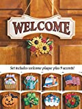 Seasonal Welcome Sign Decoration - 10 Piece Set