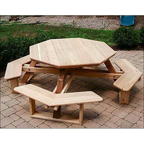 Red Cedar Octagon Walk-In Picnic Table