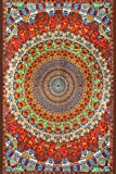 Sunshine Joy Grateful Dead 3D Psychedelic Bear Tapestry Tablecloth Wall Art Beach Sheet Huge 60x90 Inches - Amazing 3D Effects