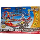 Hot Wheels Ultimate Stunt World Huge Track Set With 10 Die Cast 1:64 Scale Cars