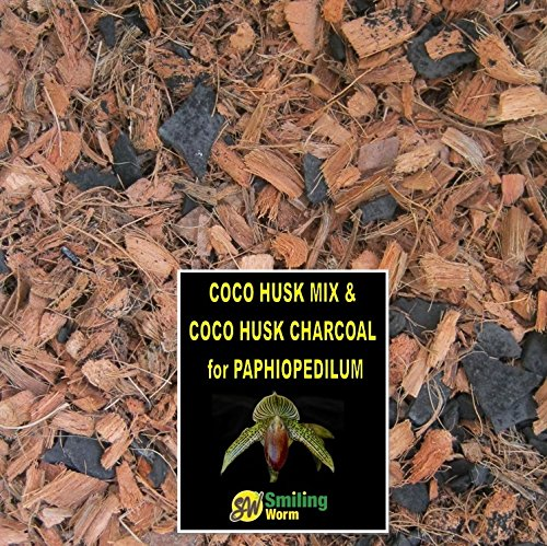 Orchid potting mix, Paphiopedilum, Oncidium, Cattleya, Vanda. Washed Coco Husk Chips + Charcoal. Freshly blended to order. (1 Quart) (Cattleya Orchid Mix compare prices)