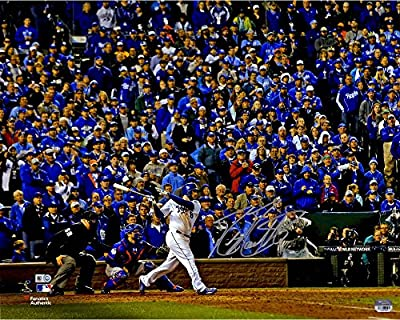 "Mike Moustakas Kansas City Royals 2015 MLB World Series Champions Autographed 16"" x 20"" World Series Photograph - Fanatics Authentic Certified"
