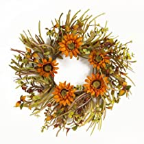Melrose International 23-Inch Diameter Sunflower Wreath