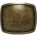 Western Plain Rectangular Hammered Vintage Belt Buckle