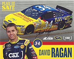 Buy AUTOGRAPHED 2014 David Ragan #34 CSX RACING (Play it Safe) 8X10 SIGNED NASCAR Hero Card w  COA by Trackside Autographs