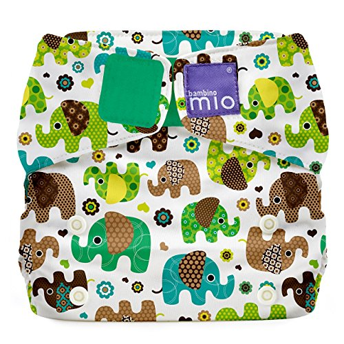 Bambino Mio Mio Solo All-in-One Cloth Diaper, Elephant Parade