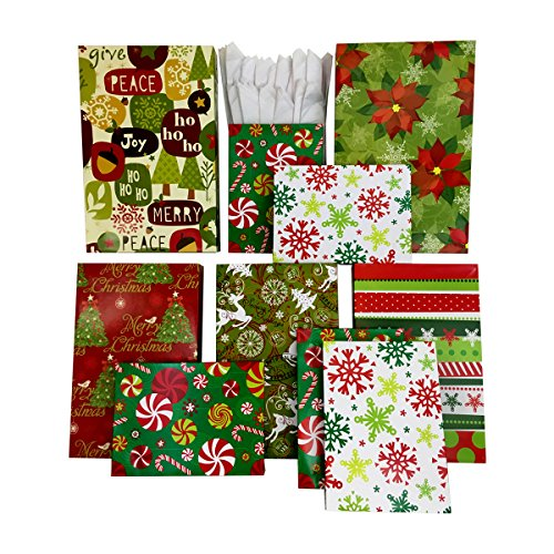 set of 10 christmas gift boxes tissue paper