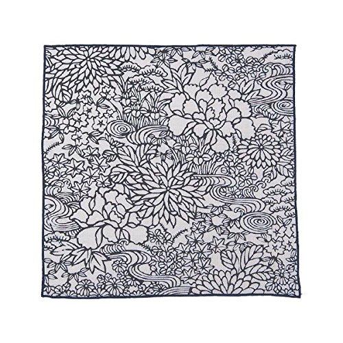 伊勢木綿ハンカチーフ 四季の花木