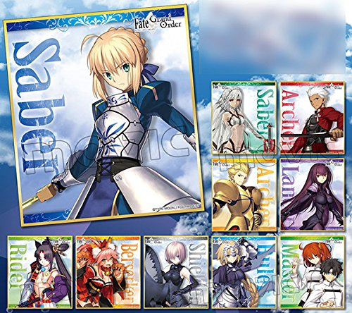 Fate/Grand Order ミニ色紙コレクション BOX商品 1BOX = 10個入り、全10種類
