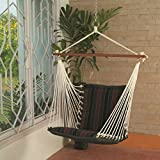 Hangit Soft Multi-color Hammock swings for home indoor in wood & fabric (Tri color)