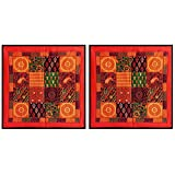 DollsofIndia Two Pieces Printed Cotton Cushion Covers - Cotton