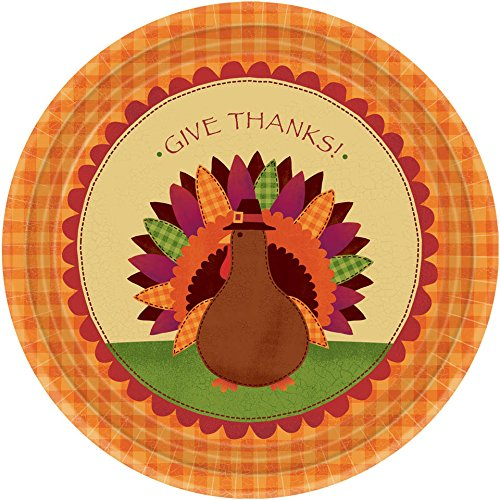 "Give Thanks 7"" Plates- 18ct"