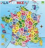 Vilac - 2582 - Jeux et Jouets en Bois - Carte de la France magnétique (95 pièces)...