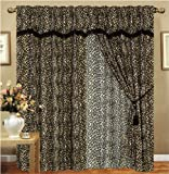 61JLWtglZKL. SL160  Leopard Animal Curtain Set w/ Valance/Sheer/Tassels