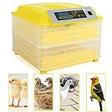 96 Egg Incubator Digital Chicken Duck Parrot Egg Hatcher Automatic Turning W/LED Temperature Display Panel CE Certified (96- Egg Incubator) (Tamaño: 96- Egg Incubator)