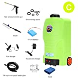 Roscloud@ 220V Car Wash Water Gun Household Electric Car Washer Portable Water Gun Brush Pump Car Washer Jet Cleaning Tool 65W High Electric Wash Washer Kit Water Pump (Color : C) (Color: C)