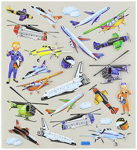 Multi-Colored Stickers-Aviation