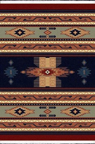 United Weavers Rugs: Manhattan: Soho: Cheyenne: Navy Blue 040-36064: 1'11