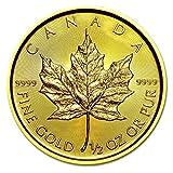 メイプル金貨 1/2オンス 2015年製 クリアケース入り カナダ王室造幣局発行 15.5gの純金 品 位:K24 (99.99%) 《安心の本物保証》【保証書付き・巾着袋入り】 ゴールド コイン