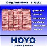 30 Kg Anzündholz Anfeuerholz Anmachholz in 4-5 praktischen Säcken