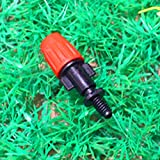 Generic Adjustable Mist Nozzle Sprinkler With 5mm Screw Connector Micro Greenhouse Irrigation Fitting MS1017