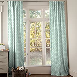 Carousel Designs Mint and White Lattice Circles Drape Panel 84-Inch Length Standard Lining 42-Inch Width