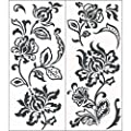 Blue Mountain Wallcoverings Snap1004 Snap Instant Wall Art, Deep Damask