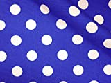 LECIEN (ルシアン) Color Basic 15mm ドット オックス 生地 綿100% 約110cm巾×2mカット col.L ブルー 4601