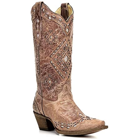 Corral Womens Glitter Inlay Western Boots
